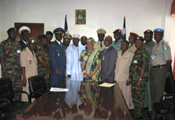 President Sirleaf with ECOWAS defence chiefs