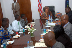 President Sirleaf in consultations with the Yannah Boys Association