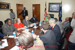 President Sirleaf hold talks with ICGL officials