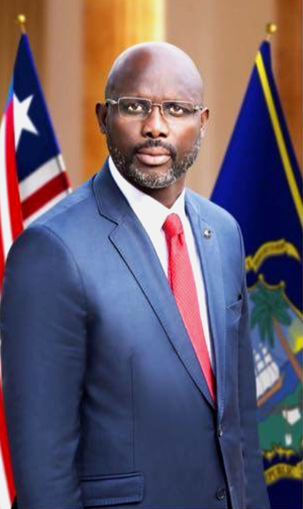 H.E. George Manneh Weah<br /> President of the Republic of Liberia