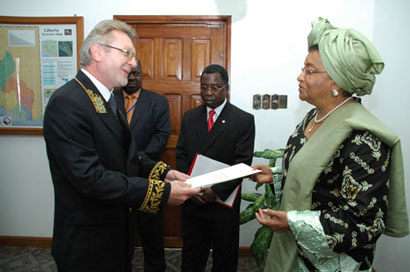 Russian Ambassador Andrey Pokrovski presenting his letters of credence.