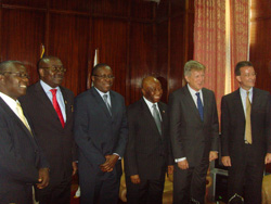 Vice President Boakai and members of the delegation.